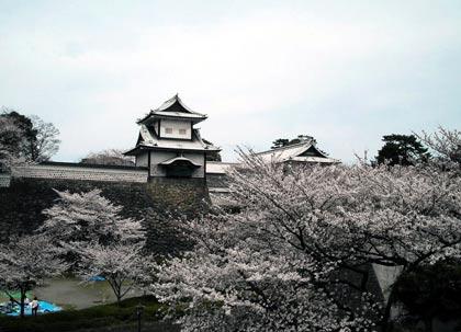 Kanazawa Castle in Spring