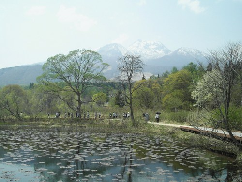 Mt. Myoko from Imori-ike