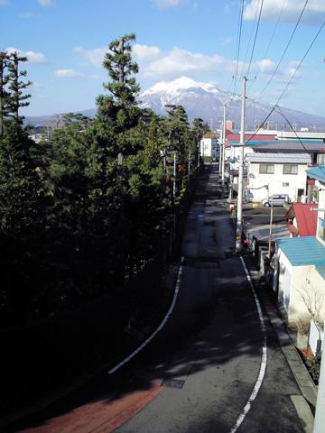 Mt. Iwaki from Hirosaki City